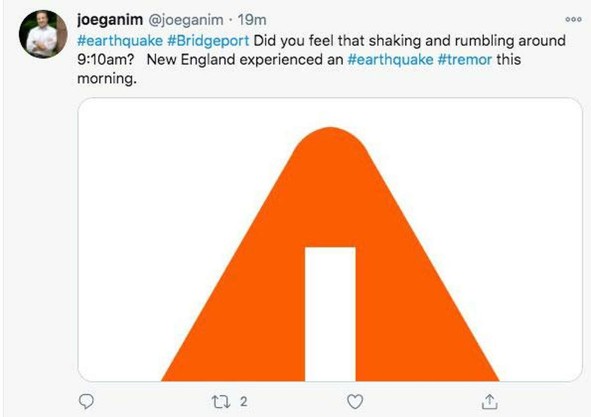 Bridgeport Mayor Joe Ganim asks residents if they felt a tremor early Sunday via Twitter.