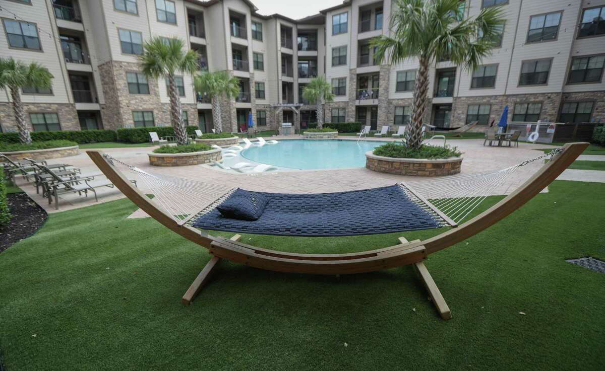A view of the pool area at the Hilltop Residential property at Waterside Village in Richmond.