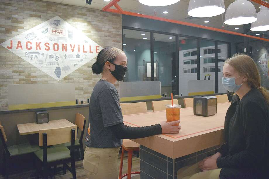 Employees prepare for the opening of McAlister's Deli in Jacksonville. Photo: Rochelle Eiselt | Journal-Courier