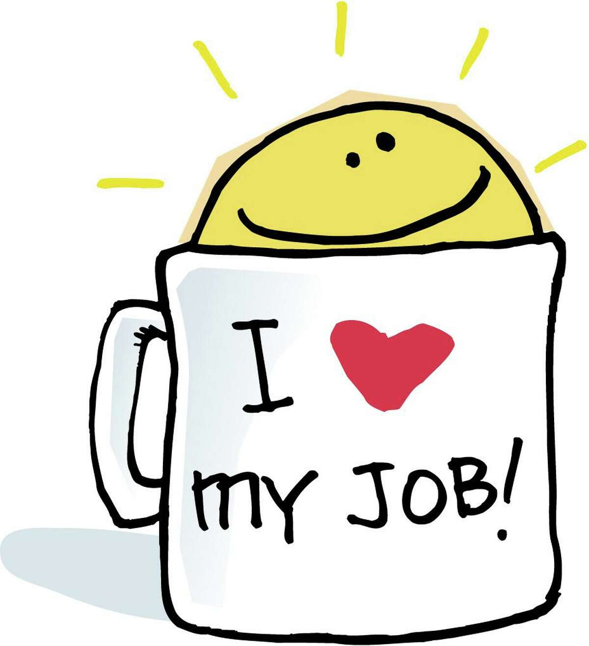200 dpi 28p x 31p Chris Ware color illustration of a coffee mug labeled I love my job with a happy faced sunshine rising from the top. Lexington Herald-Leader 1998 CATEGORY: ILLUSTRATION SUBJECT: Happy cup ILLUS.jpg ARTIST: Chris Ware ORIGIN: Lexington Herald-Leader TYPE: JPEG SIZE: As needed ENTERED: 11/19/98 STORY SLUG: Stand-alone