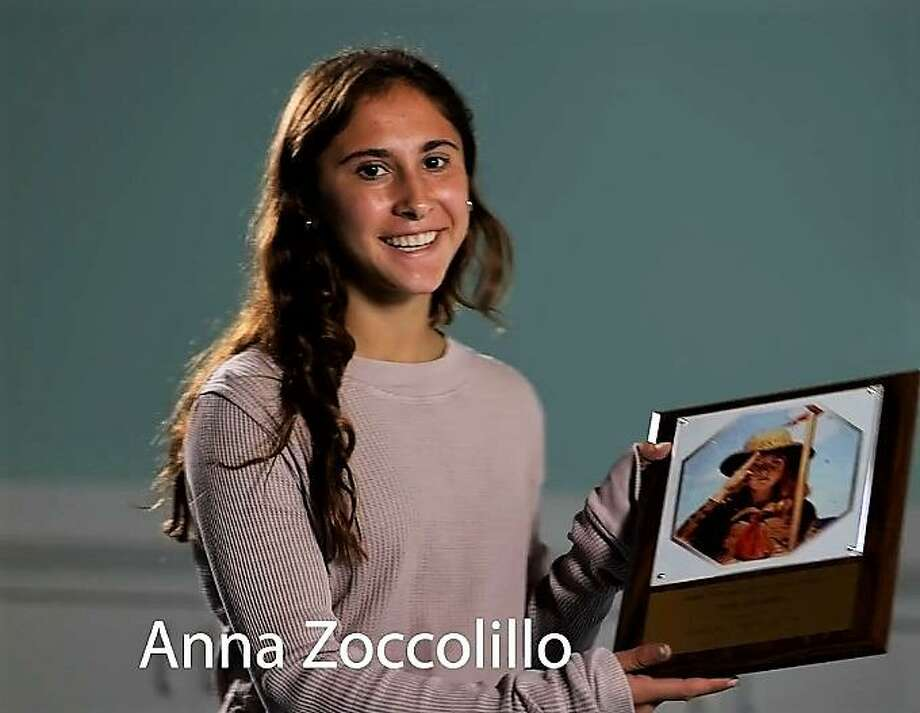 Anna Zoccolillo, of New Canaan, received the Jo Mercede Youth Volunteer of the Year Award at STAR, Inc., Lighting The Way's 68th annual Meeting and Achievement Awards recently held via the Zoom application for hosting Friday Night Fun Nights, a fun and inclusive weekly event for people of all abilities, which is also part of her gold award for her Girls Scouts activity. Photo: STAR, Inc., Lighting The Way! / Contributed Photo