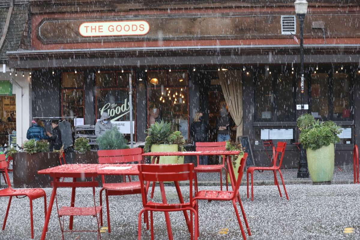 A hail storm hit Marin County on Nov. 8, 2020. There were reports of hail the size of peas.