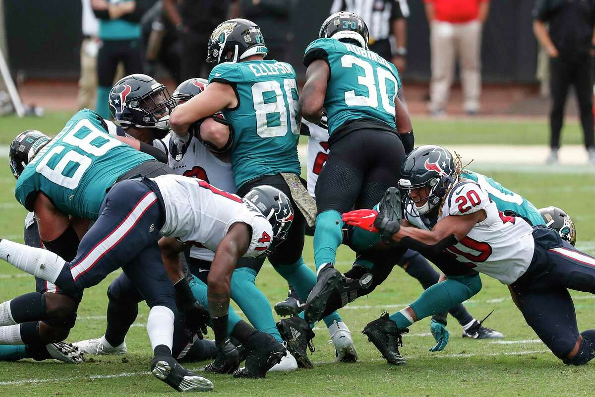 The Texans, stopping James Robinson on fourth down in the second half, made just enough plays to beat the Jaguars.