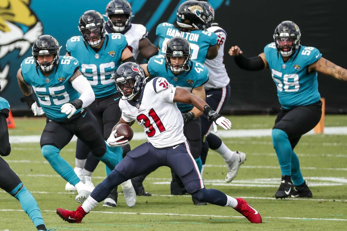 Texans running back David Johnson has missed three consecutive games since being injured Nov. 8 in a win at Jacksonville.