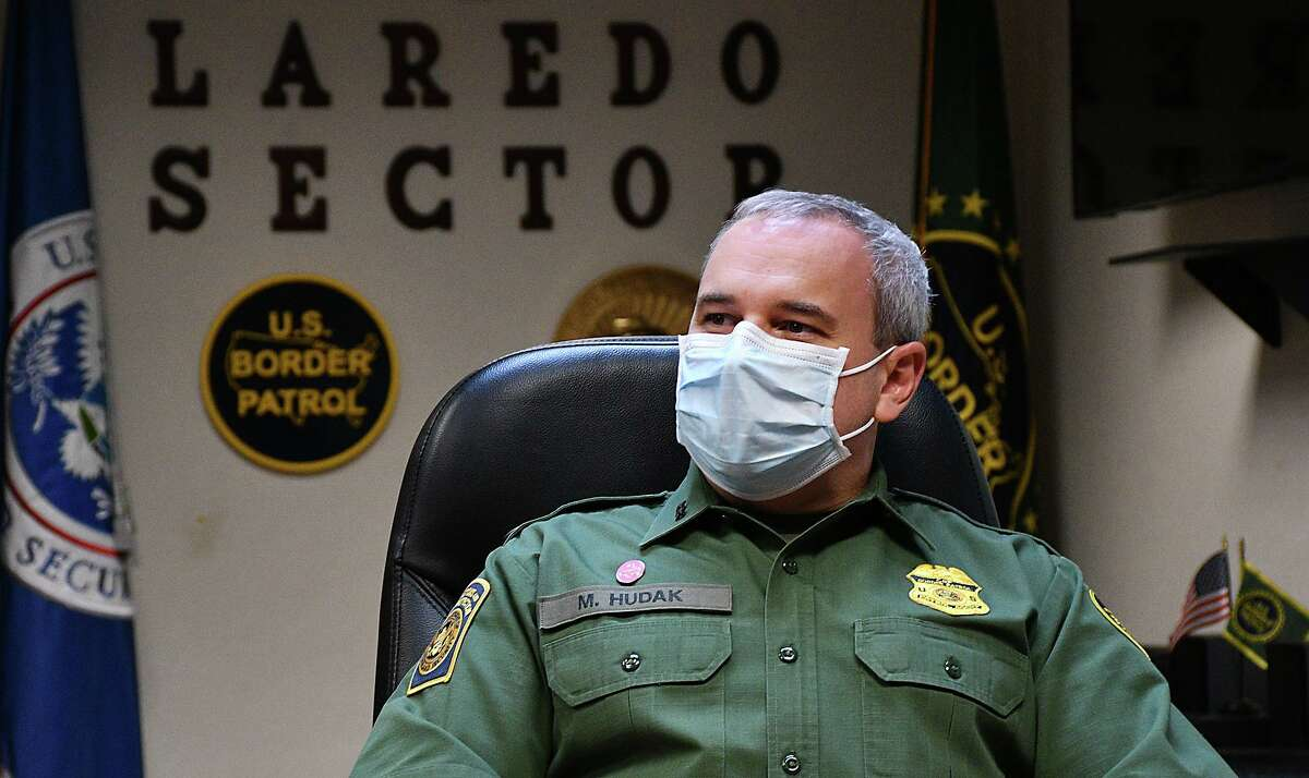 Matthew J. Hudak, United Stated Border Patrol Chief Patrol Agent of Laredo Sector, being interviewed at his office, on Tuesday, October 27, 2020.