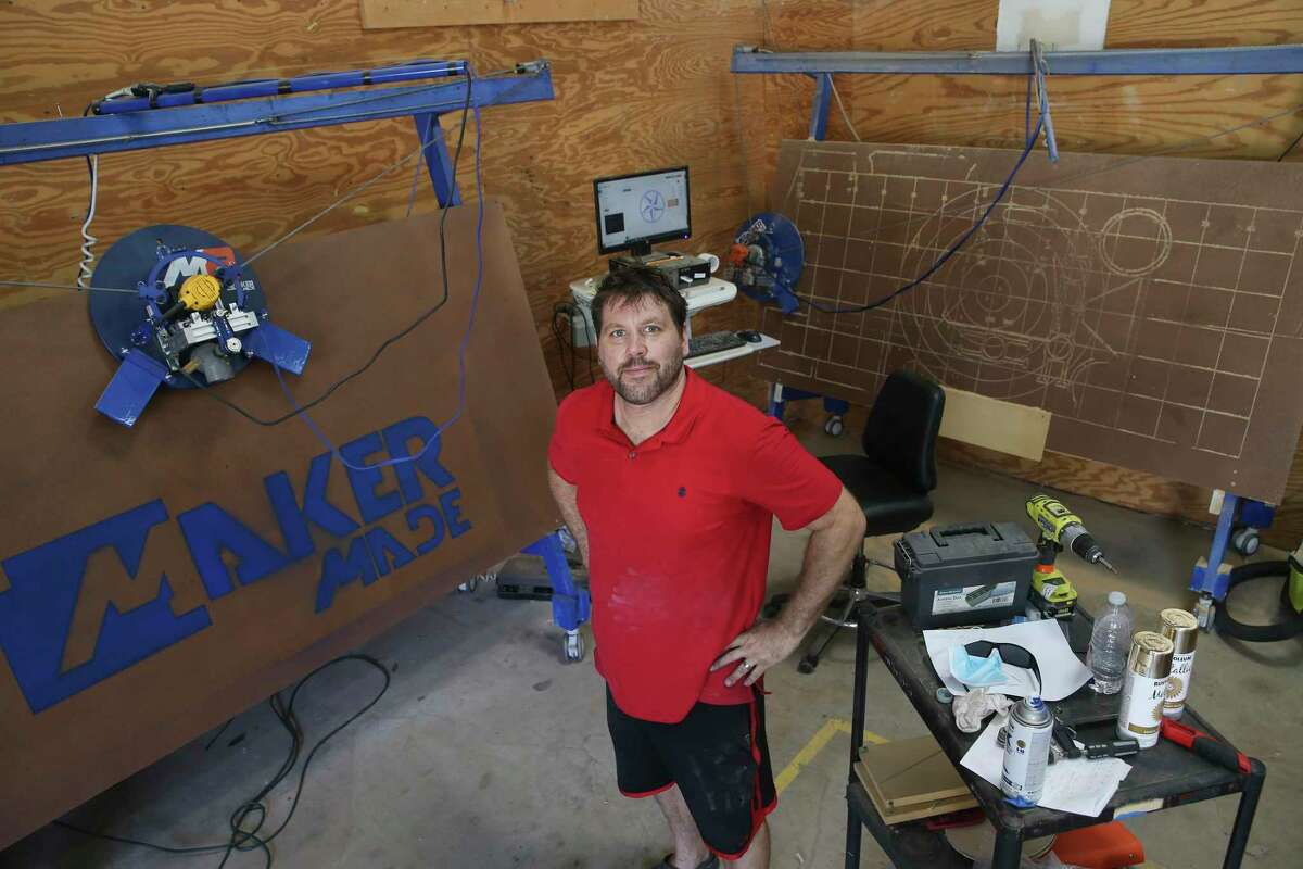 Drue Placette, co-founder of CANopener Labs, poses at his 16,000-sq-ft lab near the San Antonio International Airport, Friday, Nov. 6, 2020.