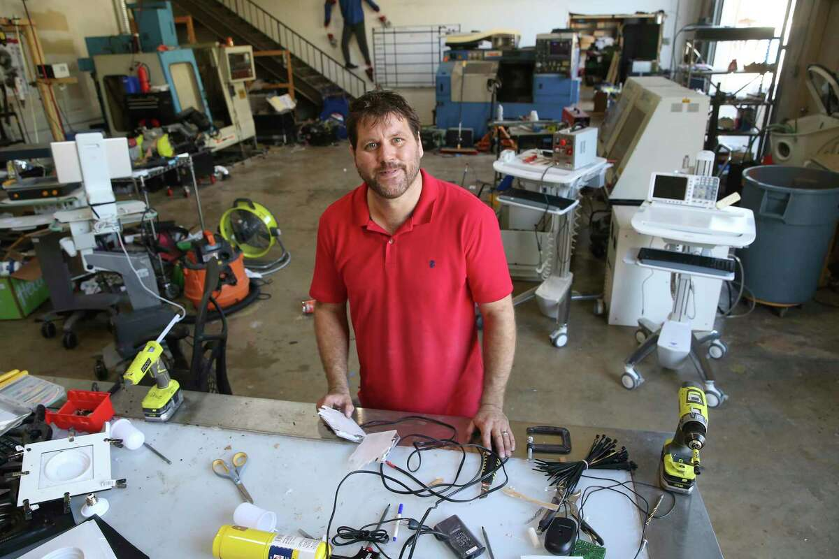 Drue Placette, co-founder of CANopener Labs, a visionary and entrepreneur has plenty to work with in his lab by the San Antonio International Airport, Friday, Nov. 6, 2020.