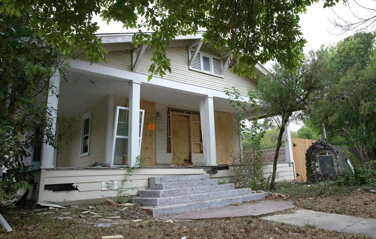 The 1921 Craftsman bungalow at 1206 W. Agarita in Beacon Hill could be saved from demolition. Renovations to the house, shown on Friday, Nov. 6, 2020, are underway. It is recommended for designation as a landmark.