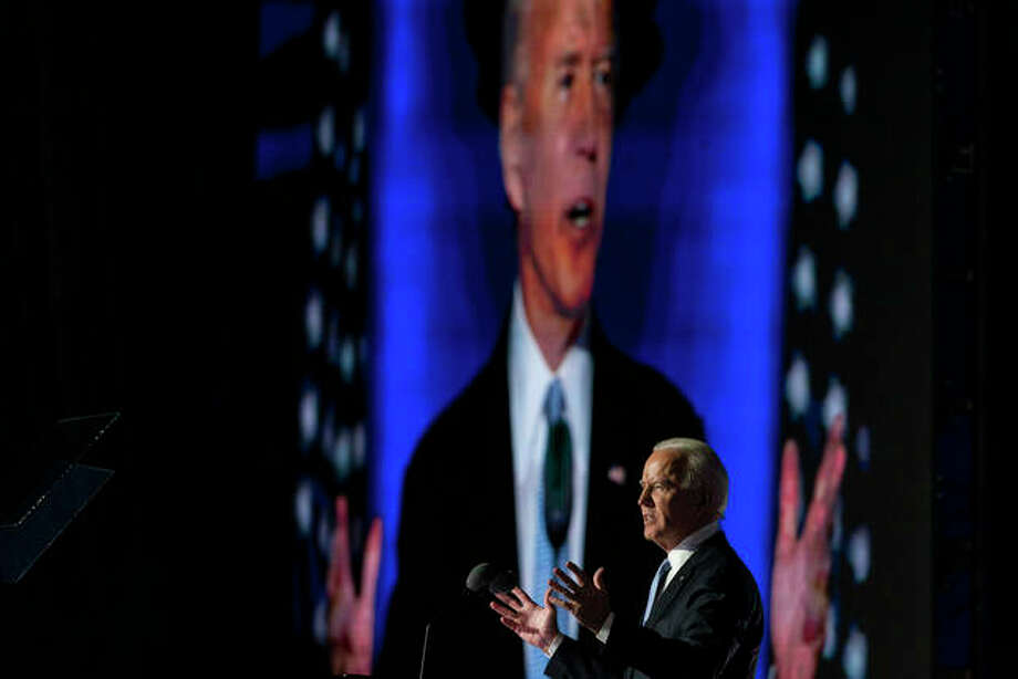 President-elect Joe Biden speaks Saturday in Wilmington, Delaware. Photo: Carolyn Kaster | AP