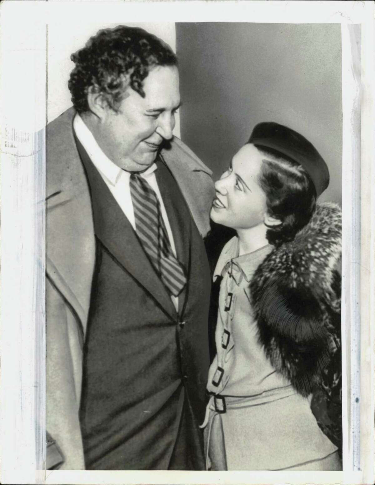 Heywood Broun, left, with his second wife.