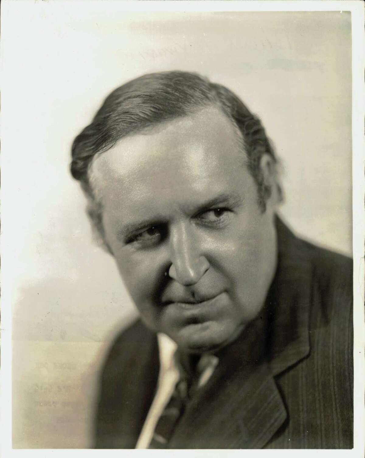 Heywood Broun, noted columnist, whose news comments are heard daily except Saturday and Sunday on the G.E. Circle at 5:45 P.M., E.D.S.T. over a National Broadcasting Company - WEAF network.