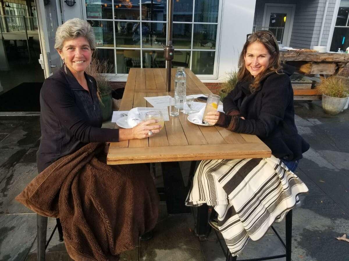 Westport Selectwomen Jen Tooker and Melissa Kane.