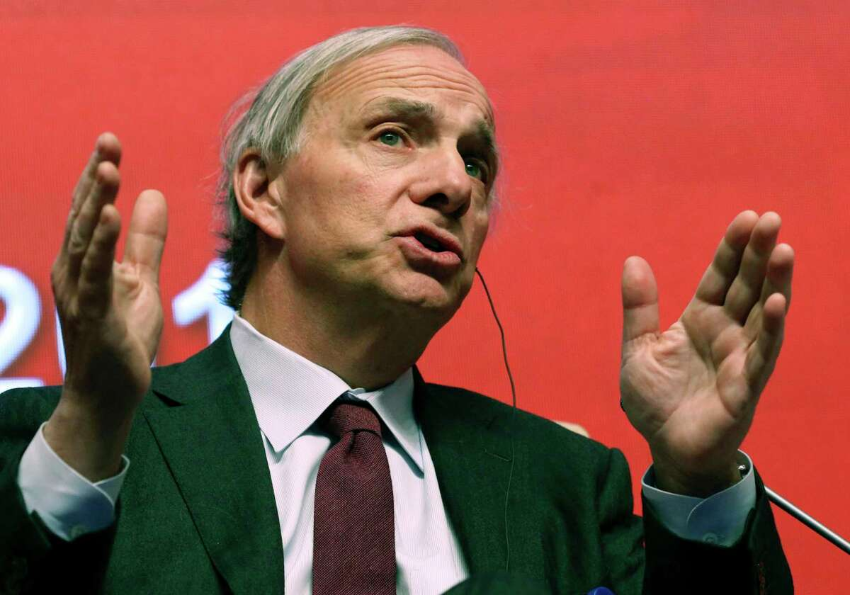 In this March 23, 2019 file photo, Bridgewater Associates Chairman Ray Dalio speaks during the Economic Summit held for the China Development Forum in Beijing, China. Dalio was interviewed Monday, Nov. 9, 2020 during the online Greenwich Economic Forum, during which he discussed the key sources of contention between the U.S. and China.