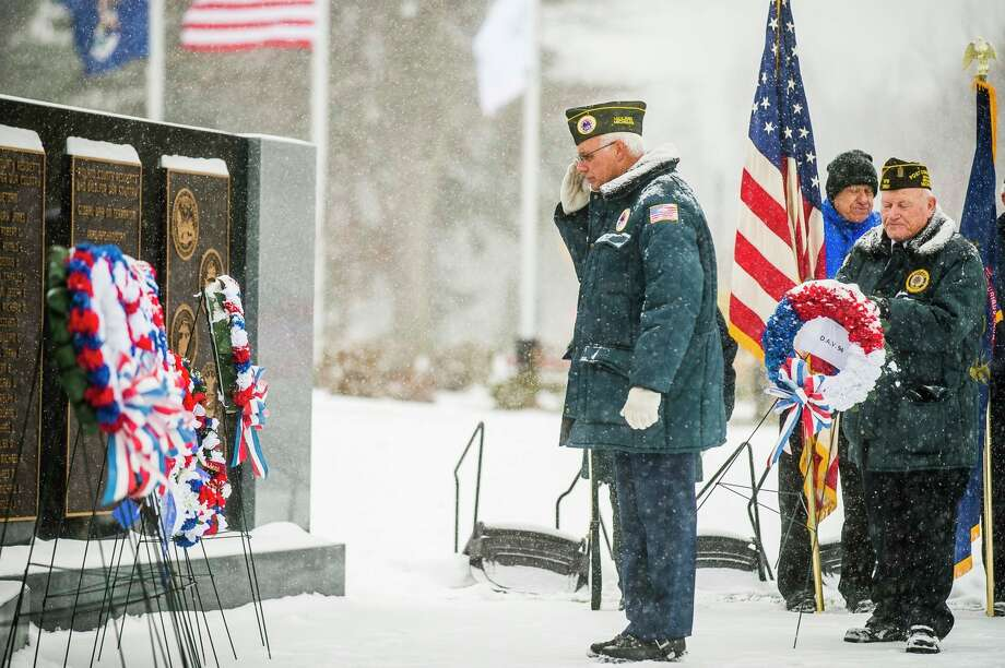Wednesday, Nov. 11: The Veterans of Foreign Wars Chemical City Post No. 3651 in Midland, will host its Veterans Day ceremony at 11 a.m. at the Midland County Veterans Memorial on the grounds of the Courthouse.(Daily News File photo, 2019)