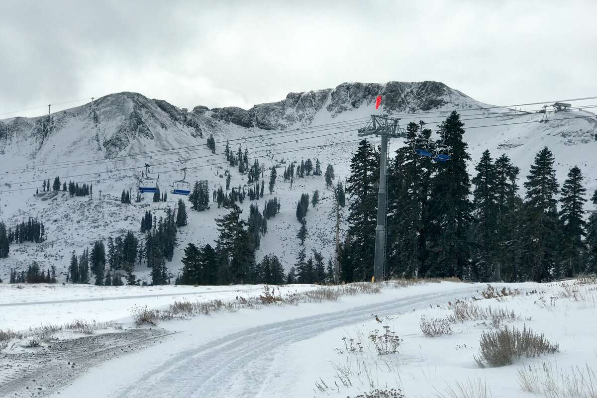 Squaw Valley received 9 inches of snow Sunday at higher elevations. There were a total of 11 inches at the peaks, with 5-8 inches total at the bases over the weekend.