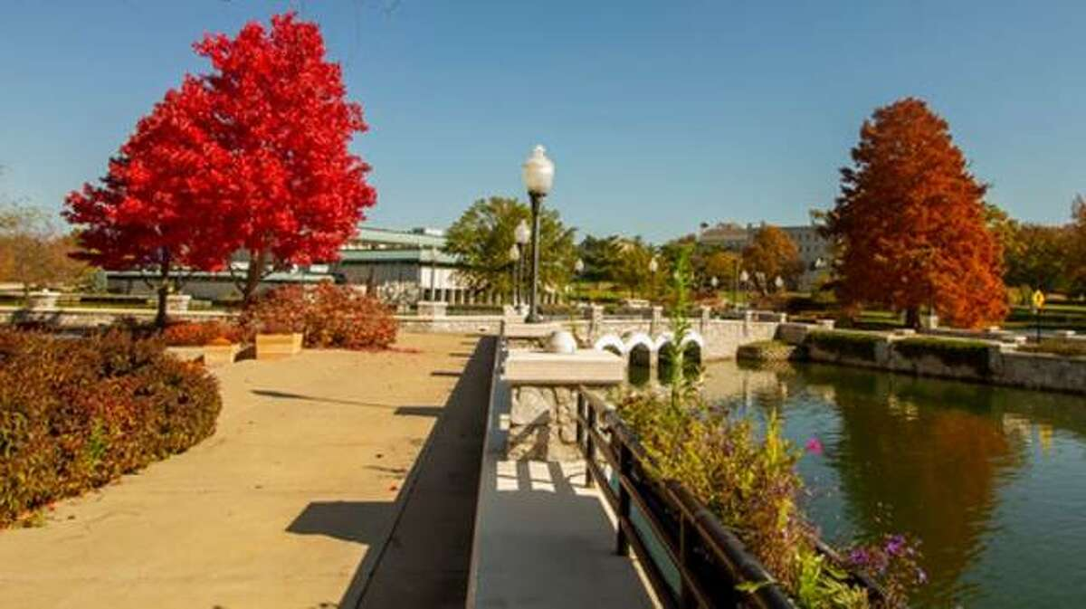 Fall again is beautiful at Lewis and Clark Community College in Godfrey, as seen here in a photo by Jan Dona of L&C Media Services.