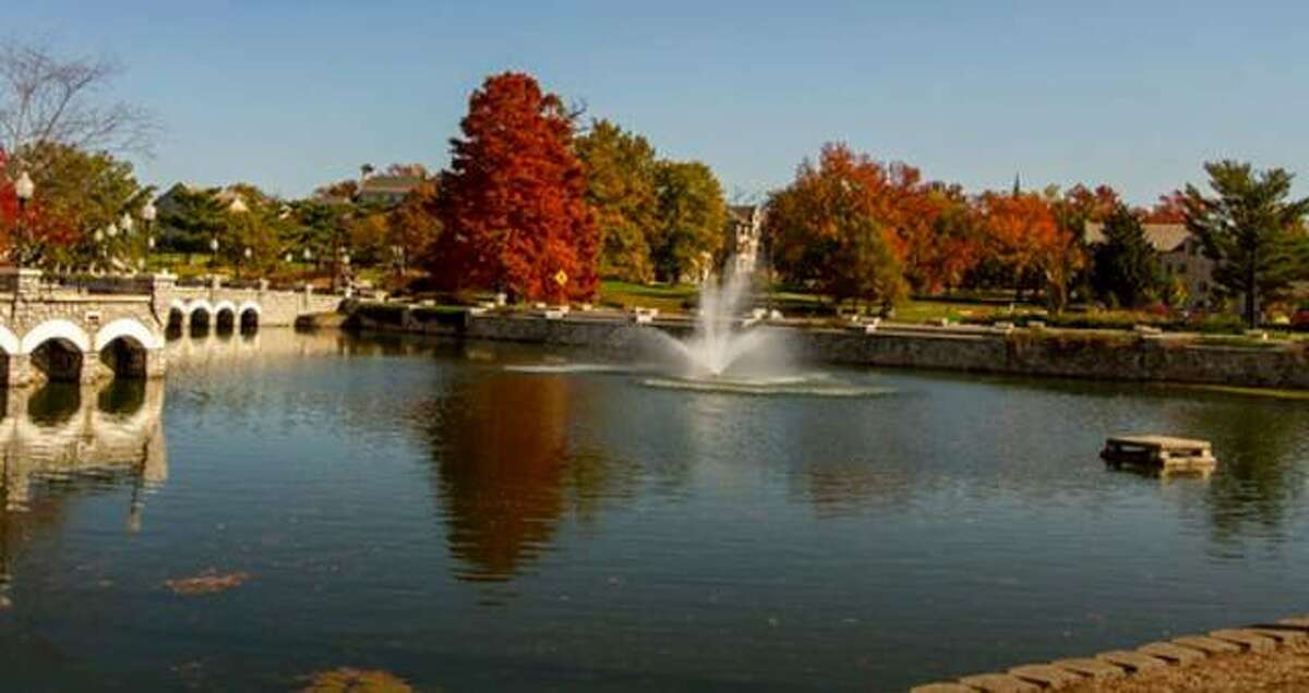 More fall colors at Lewis & Clark Community College in Godfrey.