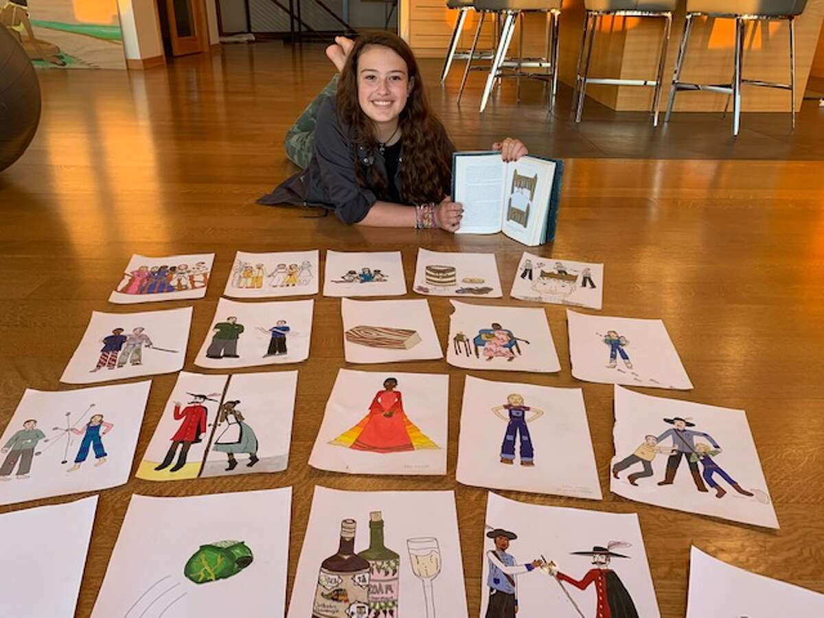 Isla Besha, a student at Woodland Hill Montessori School in East Greenbush, is one of the illustrators in JK Rowling's newest book, The Ickabog. Besha's drawing was one of 34 pieces selected from 42,000 submissions in this international contest. The book comes out Tuesday, November 10.