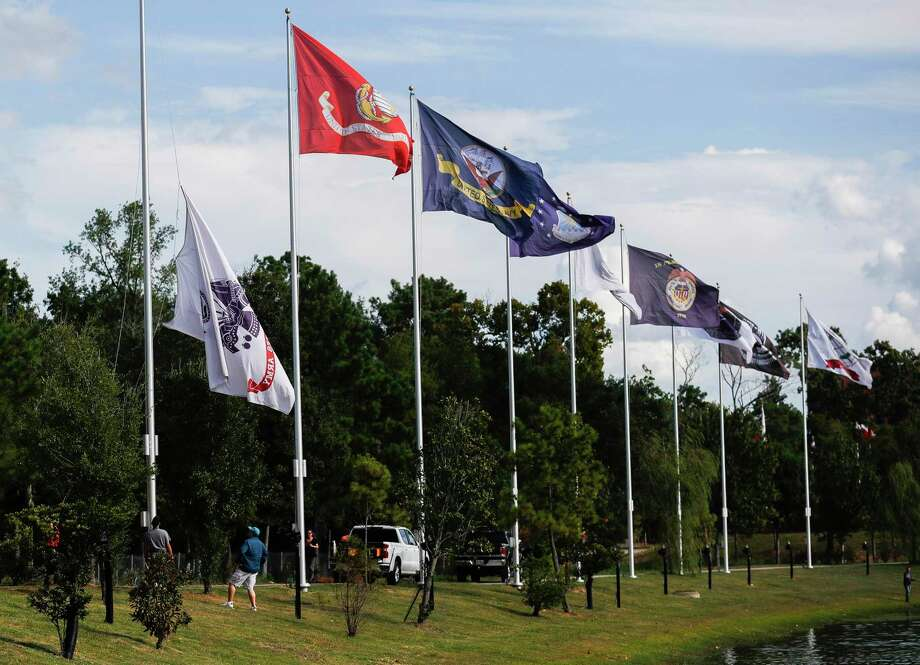 The Montgomery County Veterans Memorial Commission will host a patriotic ceremony on Wednesday at 11 a.m. to name the new South Bridge entrance to the Veterans Memorial Park as the Sgt. Luther James Dorsey Memorial Bridge. Photo: Jason Fochtman, Houston Chronicle / Staff Photographer / 2020 © Houston Chronicle