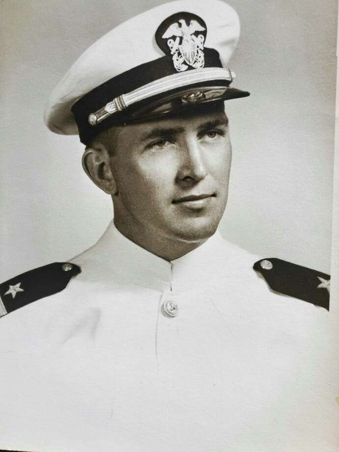"""This is Wilson Gay as he looked in 1952 when he graduated from Officer Candidate School. He wrote, """"My time on the U.S.S. Snowden encompassed only a brief ten months of my life from late October 1954 until mid-September 1955. Yet they were some of the most eventful and memorable days of my life."""" (Photo Provided)"""