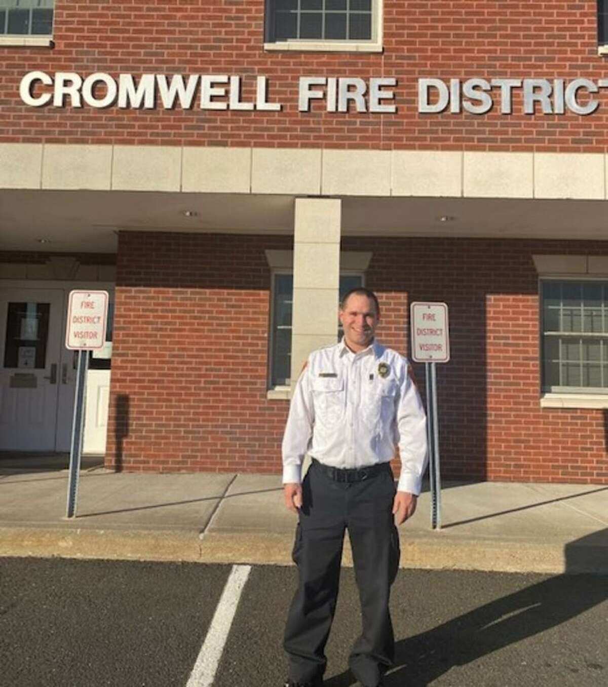 Newly installed Cromwell Fire Department acting Chief Jason Brade