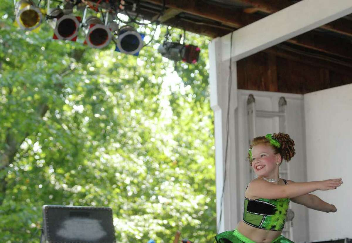 Brook Colletti of Ravena performs in the Mini Hunt category of the 10th Annual Rising Stars 2010 talent competition during opening day at the Schaghticoke Fair in Schaghticoke on Wednesday, Sept. 1, 2010. The fair runs through Monday. (Paul Buckowski / Times Union)