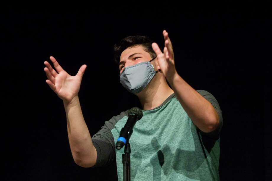 AJ Rock performs during a rehearsal for the Midland Center for the Arts's Second Act Cabaret on Oct. 16, 2020. Photo: Daily News File Photo