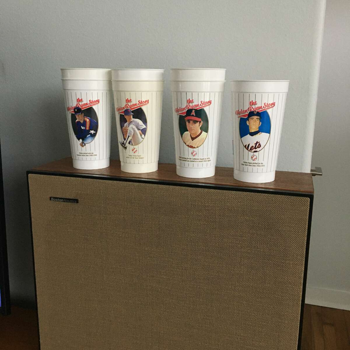 Galveston resident Joshua Ojeda collects retro drinking devices emblazoned with nostalgic images and steeped in colorful history.