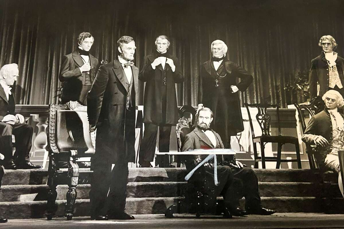 The original lineup of the Hall of Presidents when the Magic Kingdom opened in 1971.