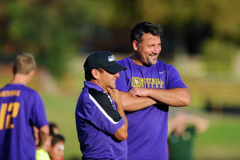 Westhill boys soccer head coach Joe Andrews and the Vikings have withdrawn from the FCIAC playoffs due to concerns over COVID-19. Photo: Michael Cummo / Hearst Connecticut Media / Stamford Advocate