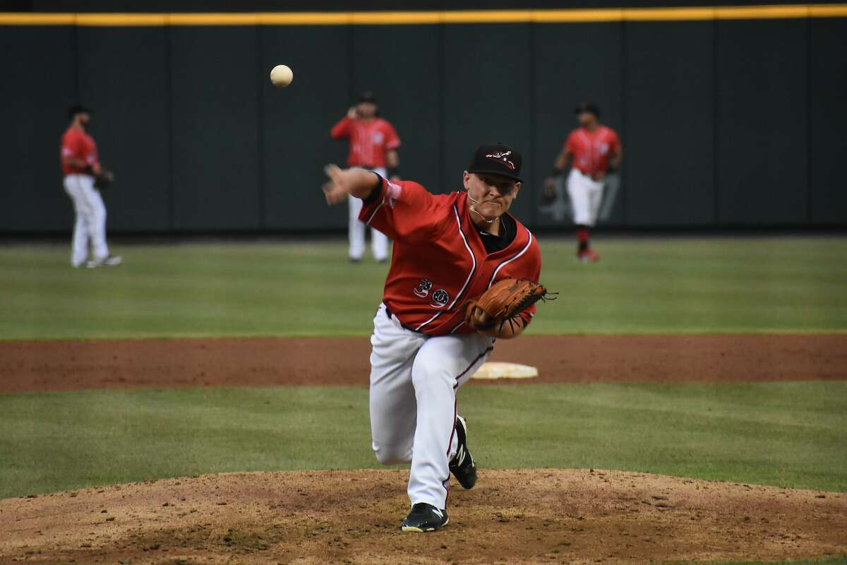 Reliever Patrick Ruotolo is shown pitching for the Giants' Double-A affiliate in Richmond, Va., two years ago.