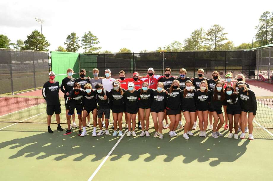 The Woodlands tennis program advanced to the state semifinals for the first time in school history on Monday by beating Klein Cain. Photo: Submitted