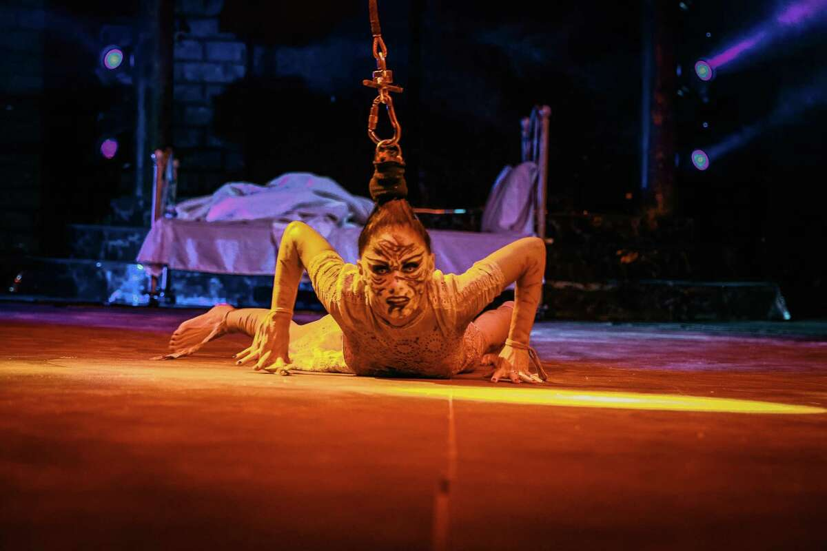 Argentina Portugal as Exorcist Hair performs in Paranormal Cirque, which comes to Ford Park on Nov. 12, 2020.