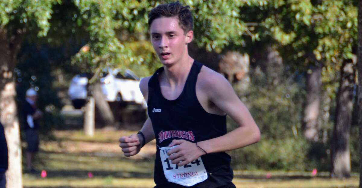 St. John's cross country runner Emmanuel Sgouros is the boys athlete of the week.
