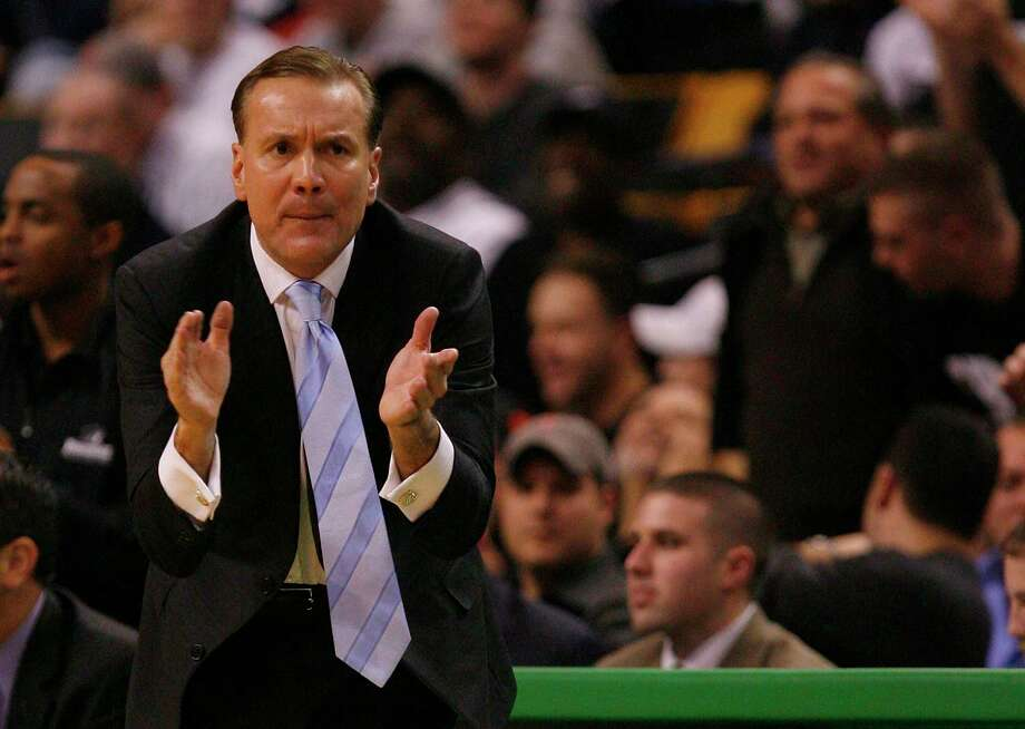 BOSTON - DECEMBER 01: Coach Tim Welsh of the Providence screams instructions against the Boston College Eagles during Game 2 of the Hartford Hall of Fame Showcase at the TD Bank North Garden on December 1, 2007 in Boston, Massachusetts. Providence won 98-89 in overtime. (Photo by Jim Rogash/Getty Images) Photo: Jim Rogash / Getty Images / 2007 Getty Images 2007 Getty Images
