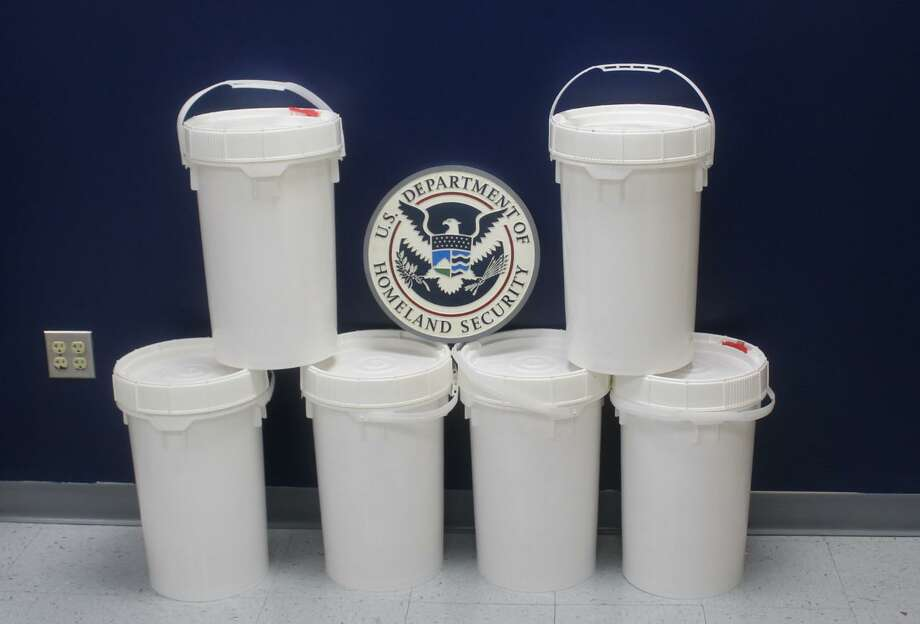 U.S. Customs and Border Protection officers said they seized 149.12 pounds of meth at the Colombia-Solidarity International Bridge. The contraband had an estimated street value of $2,982,382. Photo: Courtesy Photo /U.S. Customs And Border Protection