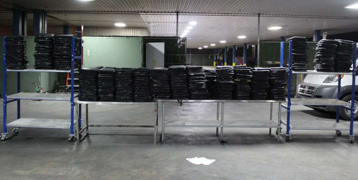 U.S. Customs and Border Protection officers said they seized these 600 packages containing 1,570.79 pounds of marijuana. The contraband had an estimated street value of $314,155.