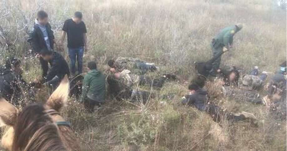 U.S. Border Patrol agents said they arrested 44 people near Hebbronville. All were determined to be immigrants who had crossed the border illegally. Photo: Courtesy Photo /U.S. Border Patrol