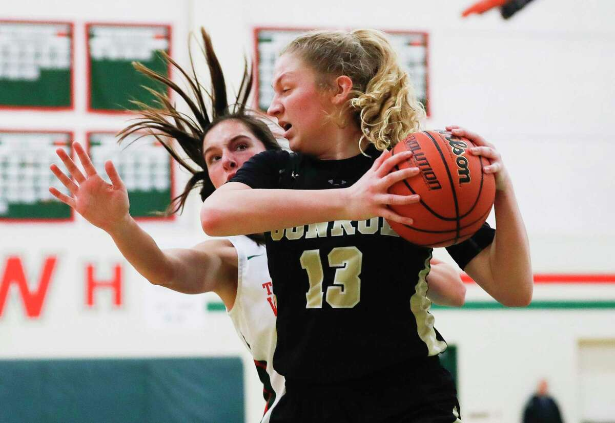 FILE PHOTO - Conroe forward Sarah Sowell (13) scored 10 points against Huntsville on Monday during the Lady Tigers' victory.