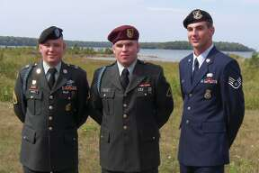 Andrew Froese, U.S. Air Force; Nate Froese, U.S. Army; and Ryan Froese, U.S. Army