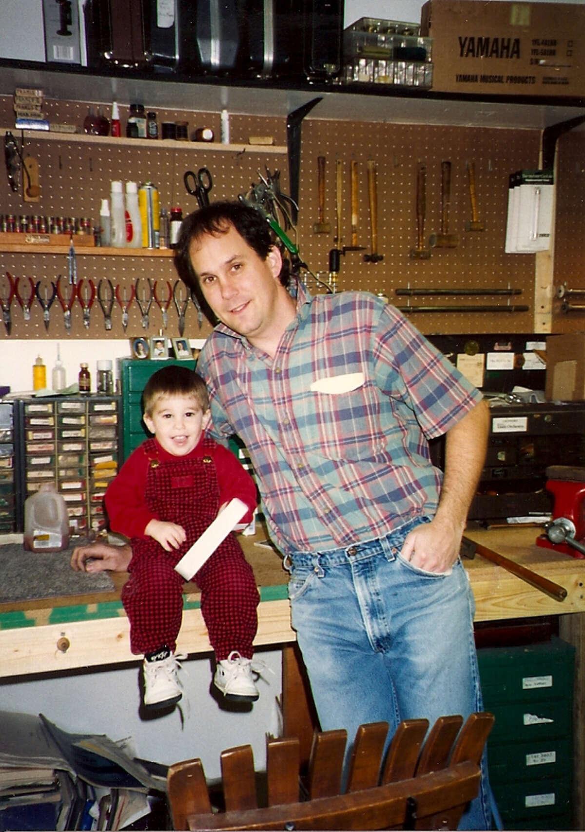 Bill Cole and his son Billy Cole circa 1992. Courtesy Bill Cole