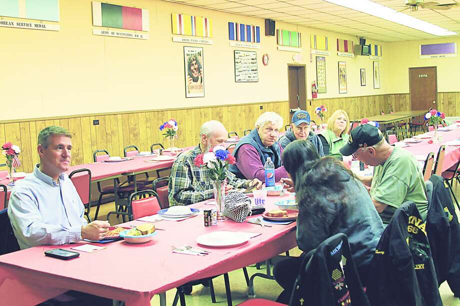 Bear Creek VFW Post No. 6333 in Kaleva hosts an annual dinner for veterans to thank them for their service. This year's event will befrom 5-7 p.m. on Wednesday at the post in Kaleva.While many annual gatherings have been canceled for Veteran's Day due to COVID-19, there are still events recognizing those who have served in Manistee County this year. (File Photo) Photo: File Photo