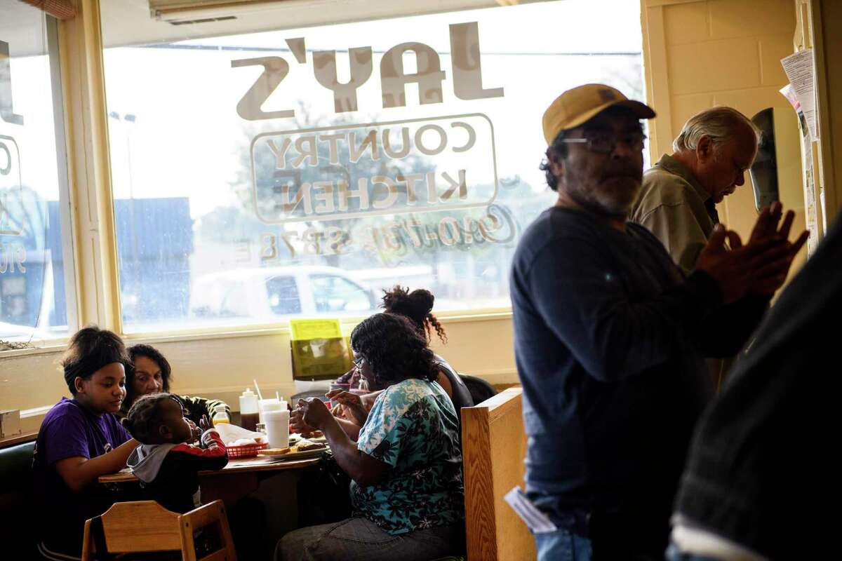Community members eat at Jay's Country Kitchen off Elizabethtown Road in Lumberton. The area refers to themselves as tri-racial, having a non-majority of normally minority races living in the same county.