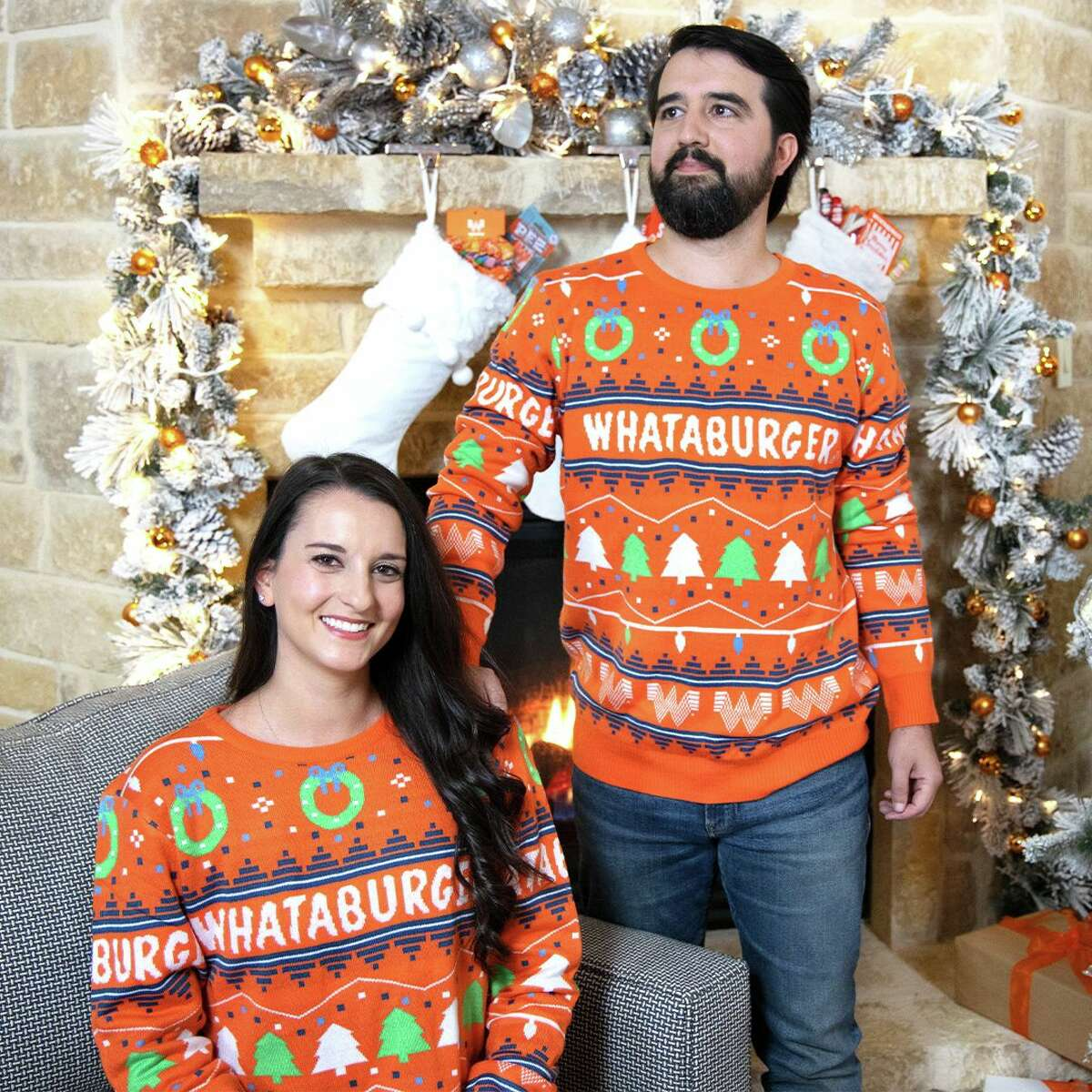 Starting Tuesday, you can purchase Whataburger's new festive holiday sweater.