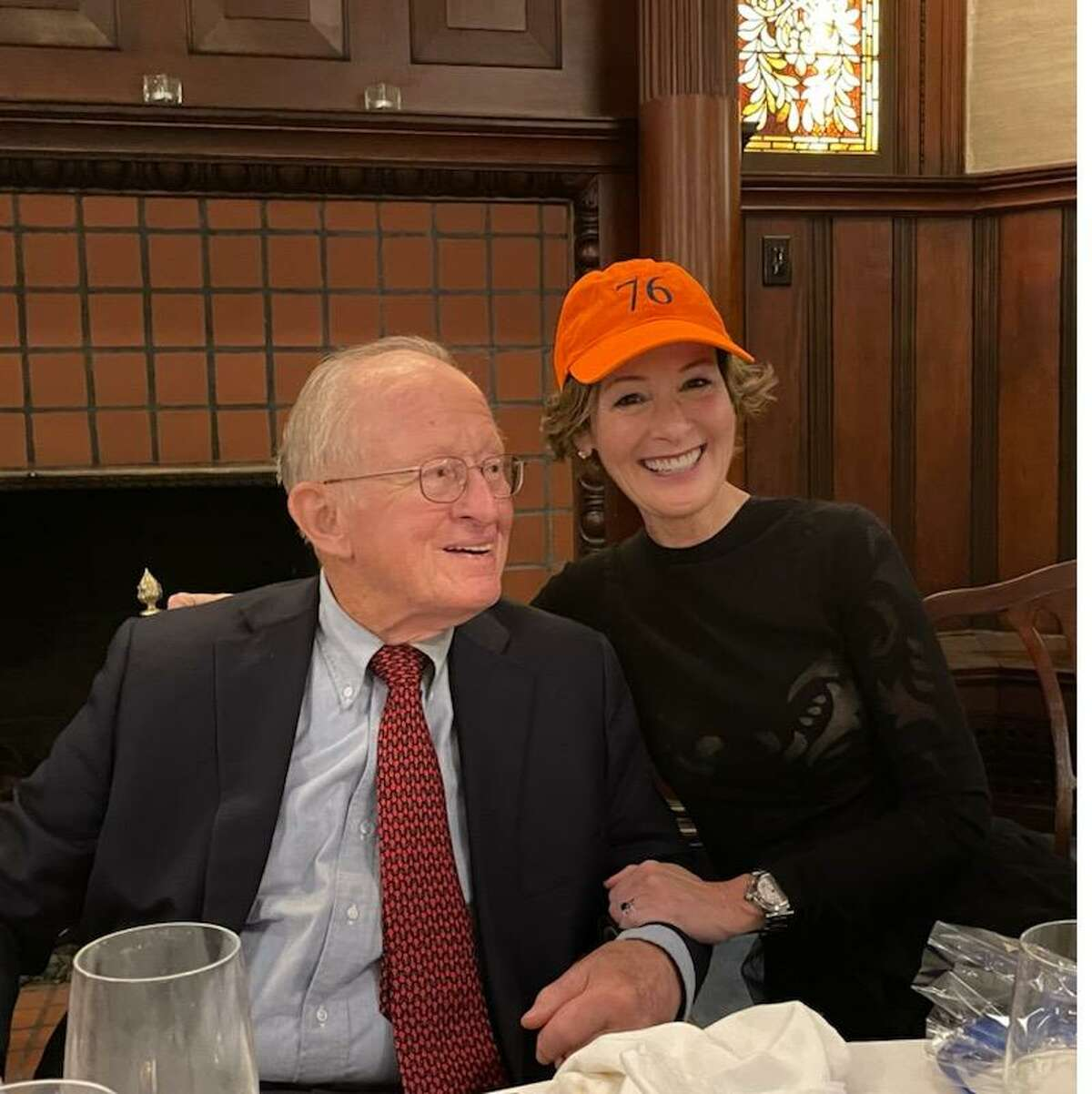 Shannon Older celebrates with her father, Dr. Thomas Older, after being elected the 76th president and first female to hold the position at the Fort Orange Club, founded in 1880. Her father, a retired heart surgeon, has been a member since 1972. Shannon Older was elected in November 2020. (Provided photo)