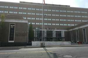A file photo of the Abraham A. Ribicoff Federal Building and U.S. Courthouse at 450 Main St. in Hartford, Conn.
