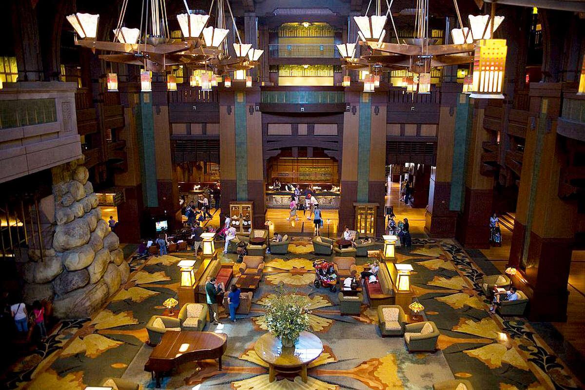 The lobby of Disney's Grand Californian Hotel.