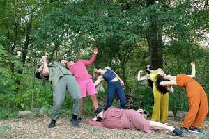 """A scene from Lauren Berthelot's short film of Robbie Moore's """"I remember..."""" shot outdoors in Houston; both the film and a live performance are part of Houston Contemporary Dance's """"Coalesce"""" program Nov. 13-21."""