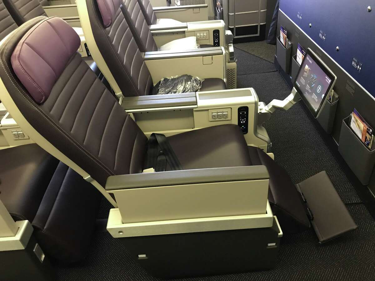 United's Premium Plus seat is wider, and reclines more than a regular economy seat. Front rows also have foot and leg rest
