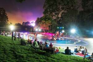 Skaters from across the Bay Area meet up at Skatin' Place in Golden Gate Park for a Friday night roller disco hosted by David Miles Jr., the Godfather of Skate.